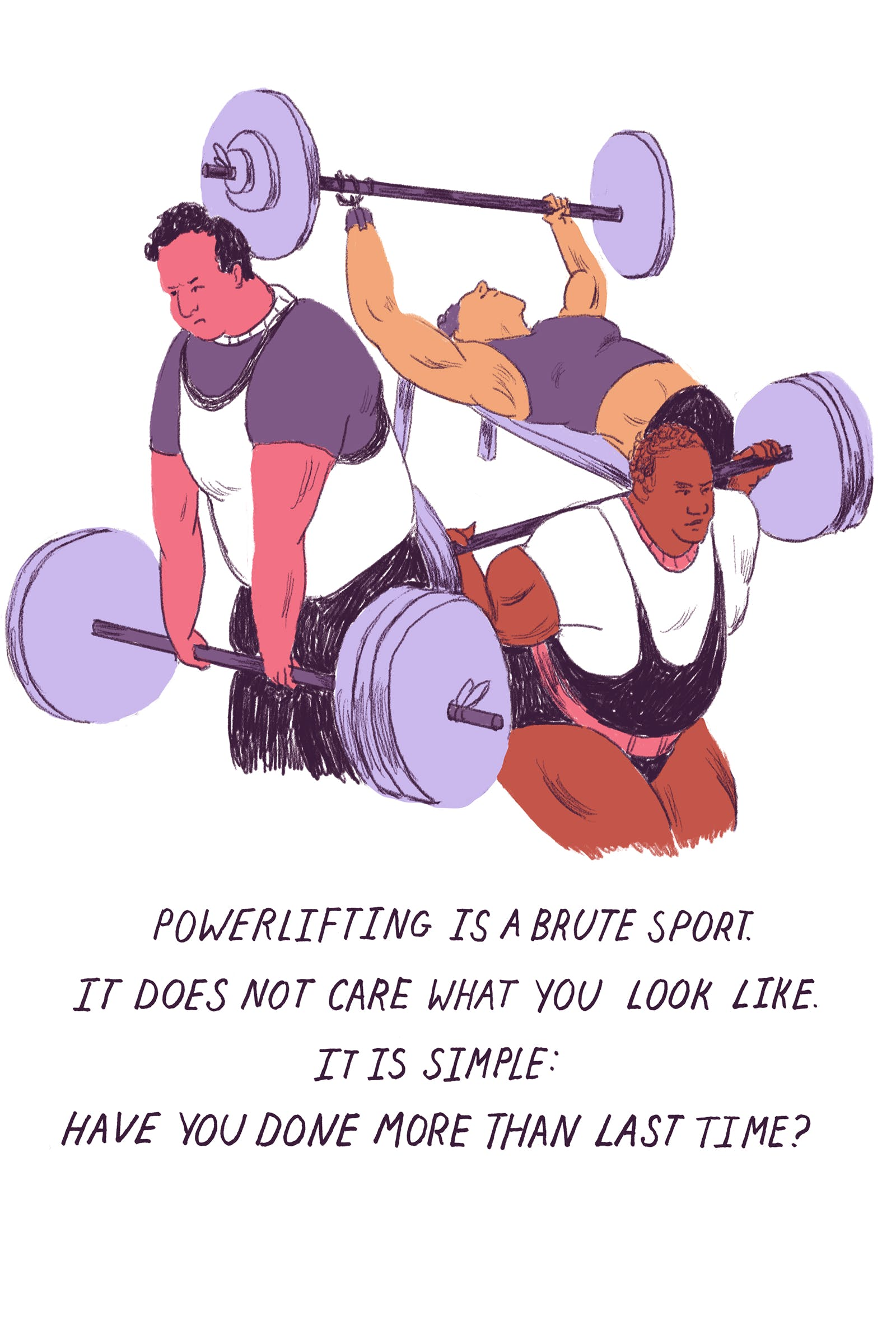 powerlifting doesn t care what i look like by colleen tighe