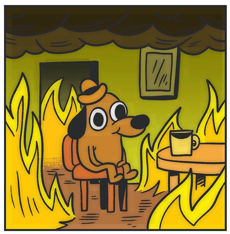 Dog In Burning House Gif