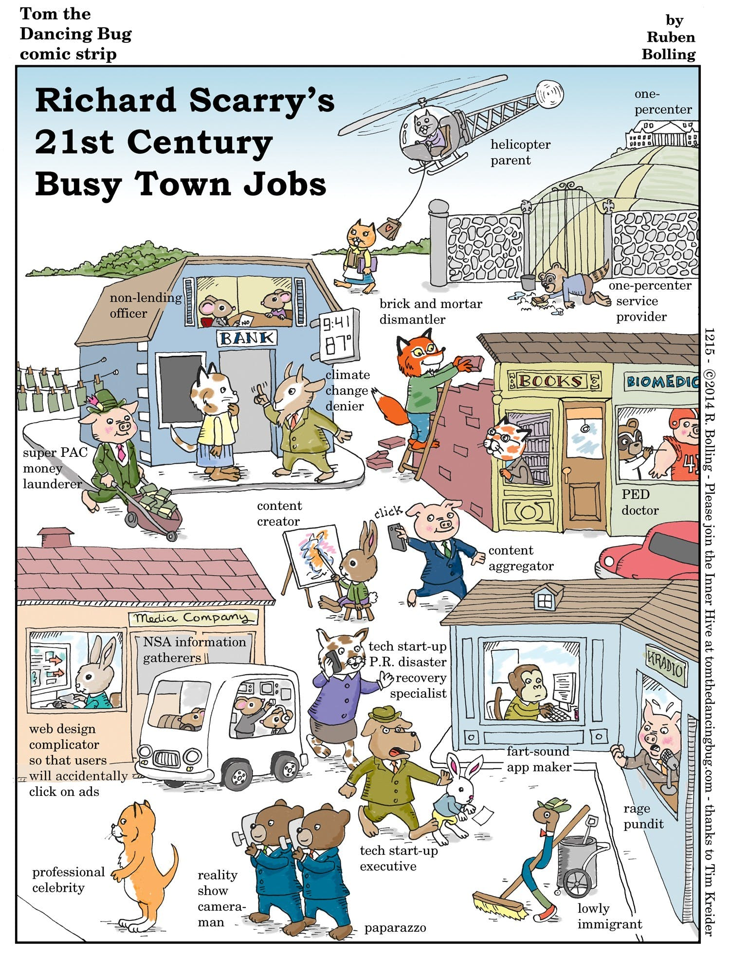 Richard Scarry's 21st Century Busy Town Jobs - by Ruben