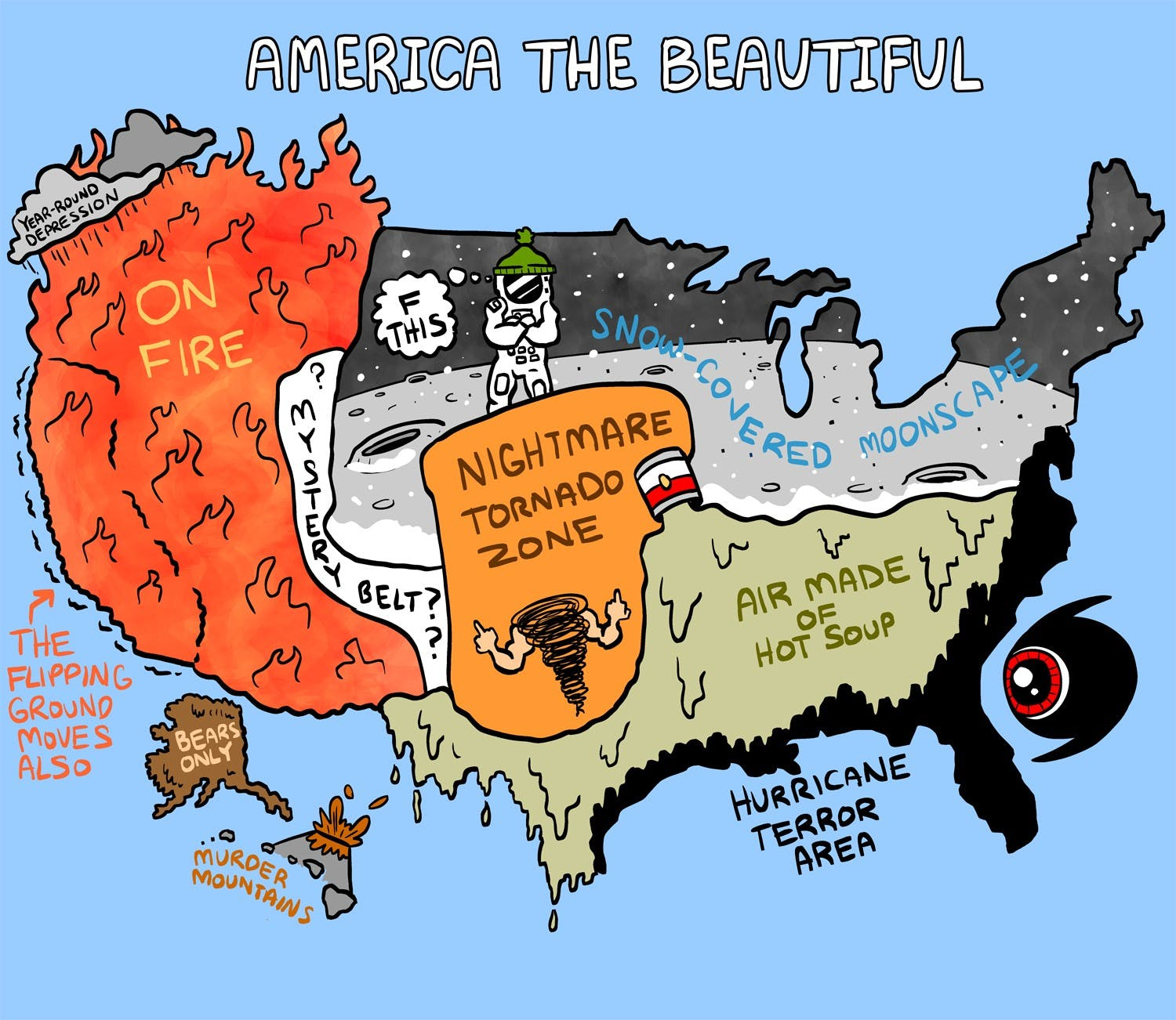 Weather Map Of America.America S Beautiful Weather Zones By Matt Lubchansky