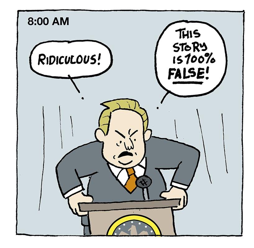 Timeline Of A White House Denial