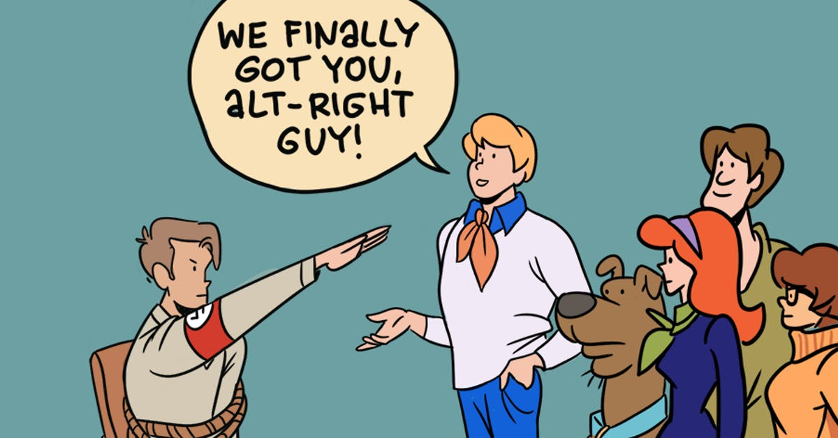 The scooby gang finds the real raciststest tout a71