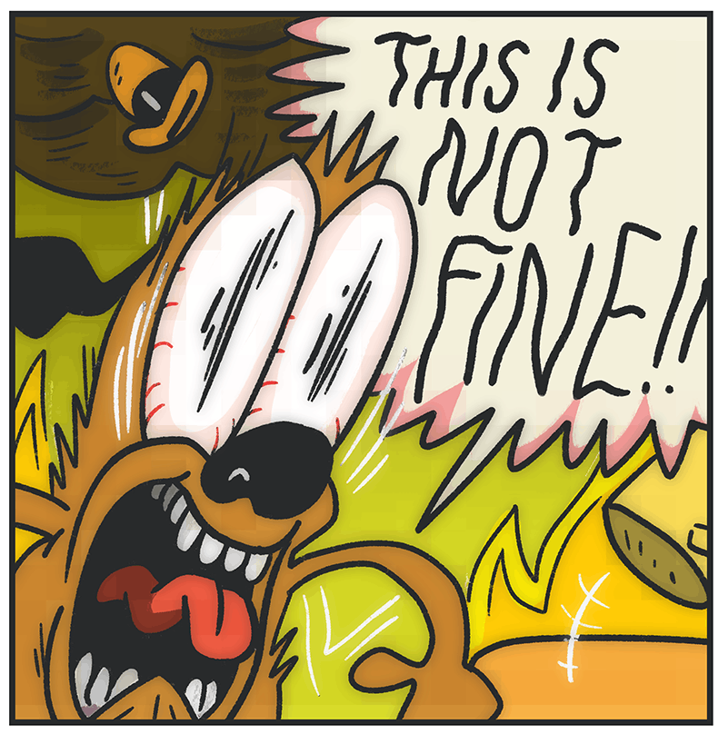this is not fine by kc green