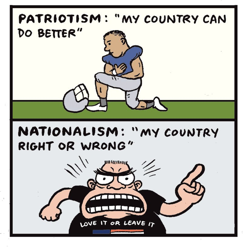 Image result for patriotism vs nationalism