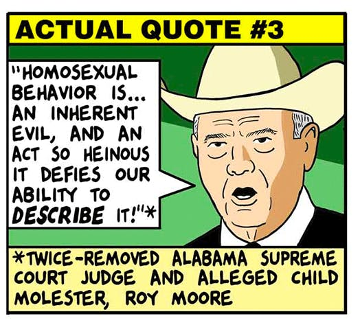 How Low Will The GOP Go Roy Moore Edition By Tom Tomorrow Awesome Roy Moore Quotes