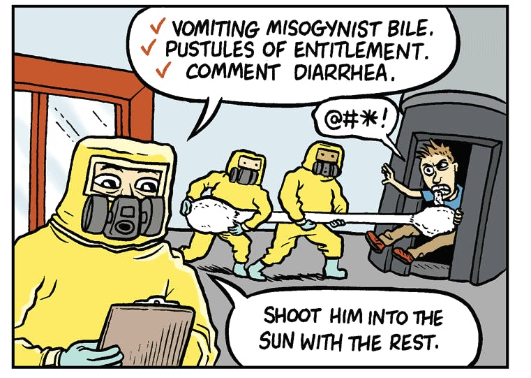 gamergate contagion spreading by matt bors