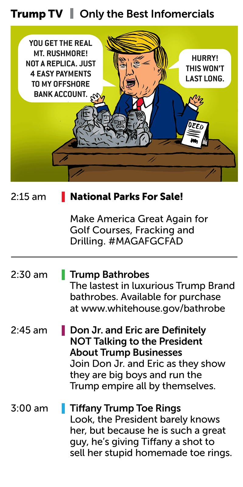 Your Trump TV Guide - by Mark Kaufman
