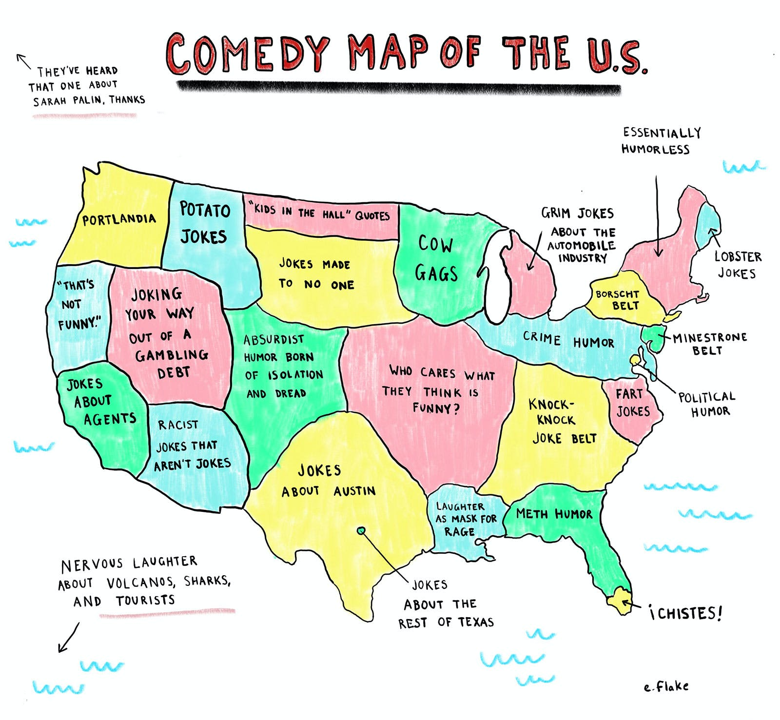 comedy map of the us by emily flake