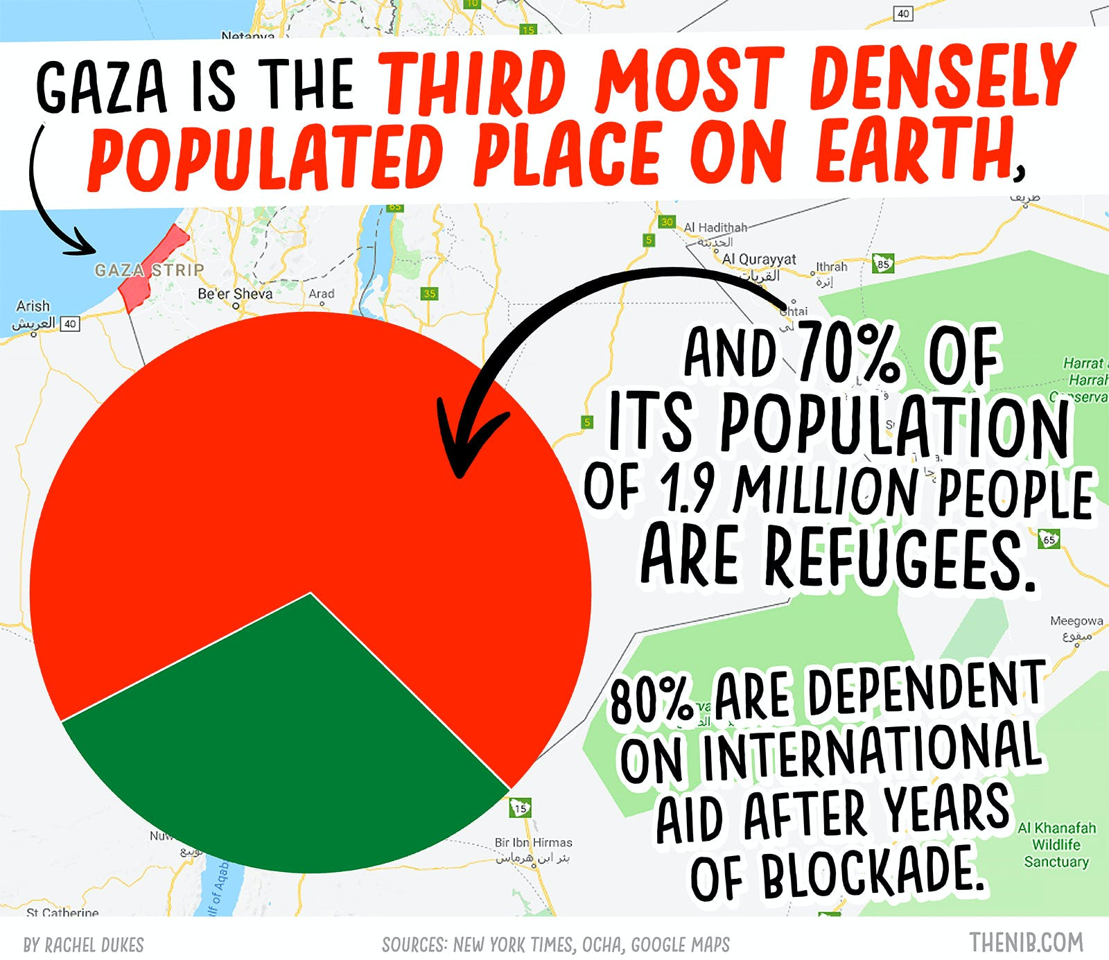 50 Years of Conflict in The Gaza Strip - by Stats